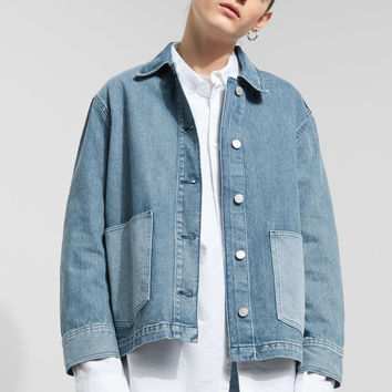 Dual Worn Blue Denim Jacket - Blue - Jackets - Weekday IT
