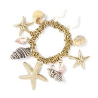 Starfish and Seashells Stretch Charm Bracelet  | Icing