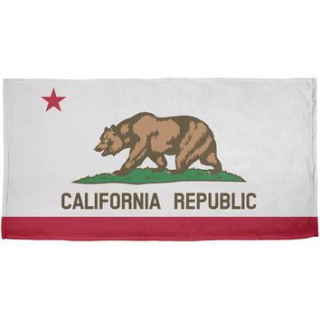 California Republic All Over Plush Beach Towel
