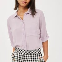 TALL Cropped Sleeve Shirt - Tops - Clothing