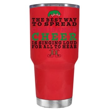 TREK The Best Way to Spread Christmas Cheer on Red 30 oz Tumbler Cup