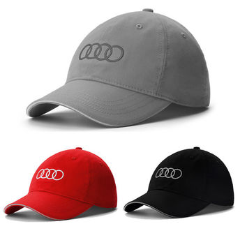 Summer Style Baseball Cap Velicle Brand Golf Cap Audi Car Fans Cap Men Women 100% Cotton Sports Gorras