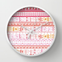 HIPPIE BANDANA Wall Clock by Nika