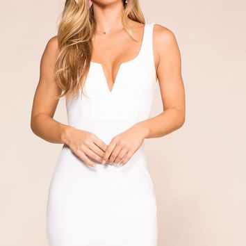 Lovely Rita White Bodycon Dress