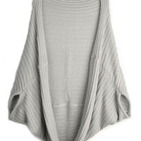 Shawl Asymmetrical Knit Cardigan