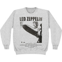 Led Zeppelin Men's  Performin Sweatshirt Grey