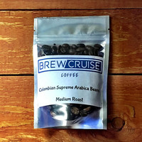 Fresh Roasted Small Batch Colombian Supremo Arabica Whole Roasted Coffee Beans Medium Roast 2 oz Sample