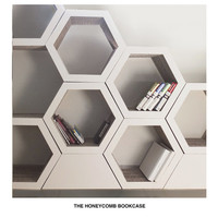 Set Of 6. Honeycomb bookcase. Recyclable Cardboard Bookcase.
