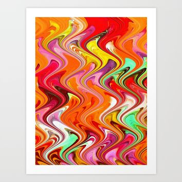 Marbling3 Art Print by Regan's World