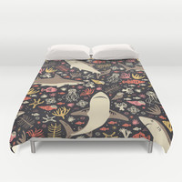 Oceanica Duvet Cover by Anna Deegan