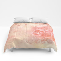 Rose Colored Splashes Comforters by Theresa Campbell D'August Art