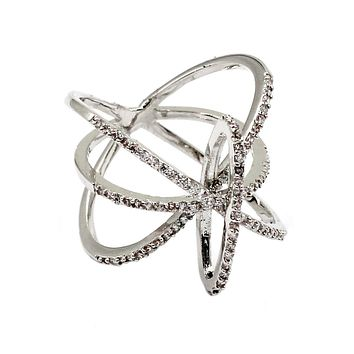 fashion tracks small crystal ring