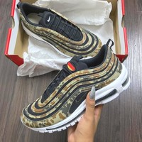 Nike Air Max 97 Camo Fashion Running Sneakers Sport Shoes