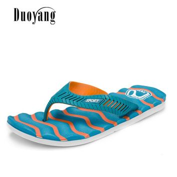 2017 New Fashion Summer Mens Casual Flat Slippers Men Beach Sandals Shoes Male Leisure Men Shoes