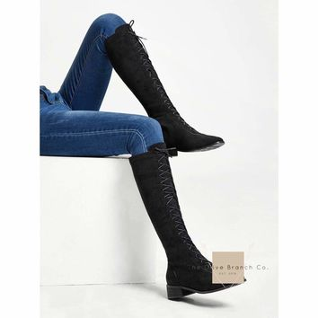 Knee High Indian Lace Up Boots