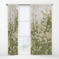 Picking daisies Window Curtains by anipani