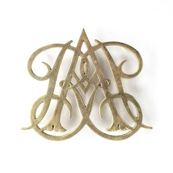 Mid Century Colonial Williamsburg Brass Trivet by Virginia Metalworks, Vintage Queen Anne Colonial Williamsburg Brass Trivet