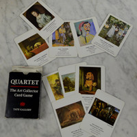 Art Collector Card Game, Quartet, Tate Gallery, Turner, Sargent, Matisse, Dali, Cezanne, Blake, Bacon, Card Game, Playing Cards, Art Cards