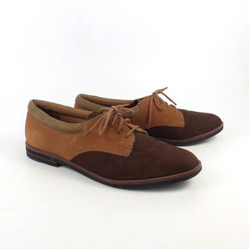 Bass Oxford Shoes Leather Vintage 1980s Brown Women's size 8