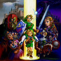 The Legend of Zelda: Ocarina of Time video game poster