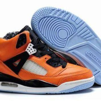New Nike Air Jordan 3.5 Spizike Kids Shoes Orange Black