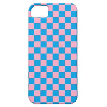 Checkered Pink and Turquoise iPhone 5 Case