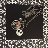 Nightmare Before Christmas Inspired Memory Locket Mickey Mouse Necklace