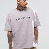 ASOS | ASOS Oversized Short Sleeve Printed Sweatshirt at ASOS
