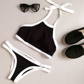 Black Swimsuit Bikini Set