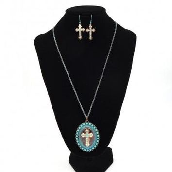 "TTTQ-Western Style Cross 33"" long Necklace set"
