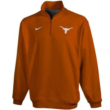 Nike Texas Longhorns Burnt Orange College Classic Quarter Zip Fleece Sweatshirt