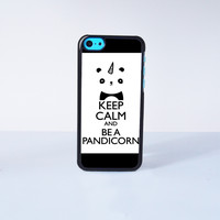 Keep Calm and Be A Pandicorn Plastic Case Cover for Apple iPhone 5C 6 Plus 6 5S 5 4 4s