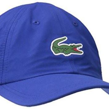 Lacoste Men's Sport Polyester Cap with Green Croc, France, TU