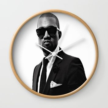 Mr. West Wall Clock by Neon Monsters