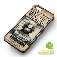 Sirius Black Harry Pottrer Wanted Poster-213 for iPhone 4/4S/5/5S/5C/6/ 6+,samsung S3/S4/S5,S6 Regular,S6 edge,samsung note 3/4