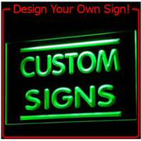 On/Off switch 7 Colors 2 Sizes Custom Neon Signs Design Your Own LED Neon Signs LED Signs Edge Lit Bar open Drop DHL