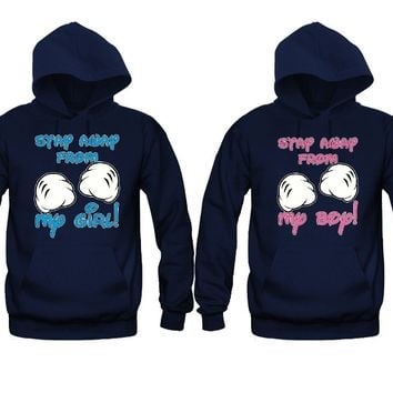 Stay Away From My Girl - Stay Away From My Boy Unisex Couple Matching Hoodies