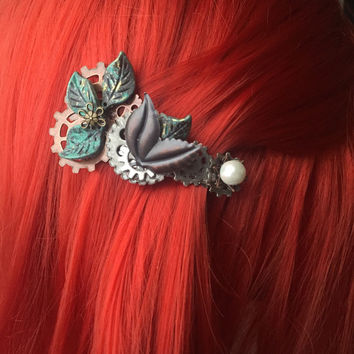 Elven Steampunk Hair Accessories - Steampunk Hair Clip - Womens Hair Accessories