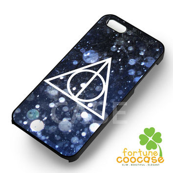 night snow deathly hallows harry potter- 1naay for  iPhone 4/4S/5/5S/5C/6/6+,Samsung S3/S4/S5/S6 Regular/S6 Edge,Samsung Note 3/4