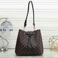 Louis Vuitton LV Woman Men Fashion Leather Travel Shoulder Bag Backpack