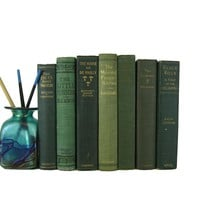 Green Farmhouse Decor Book Collection, S/7