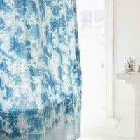 Hazy Tie-Dye Shower Curtain