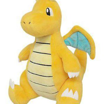 "Sanei Pokemon Sun All Star Collection PP39 Dragonite 8.5"" Plush Authentic USA"