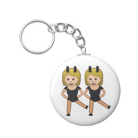 Woman With Bunny Ears Emoji Key Chain