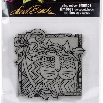Stampendous Laurel Burch Cling Stamp -Holly Cat