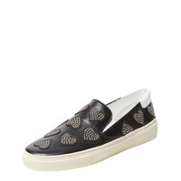 Studded Heart Slip-On Sneaker by Saint Laurent Paris at Gilt