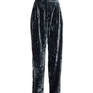 Wide-leg Velvet Pants - from H&M