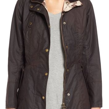 Barbour 'Holsteiner' Skirted Waxed Cotton Jacket | Nordstrom