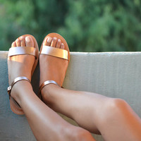 YASEMI , Sandals, Leather sandals, Ankle strap sandals, Handmade women shoes