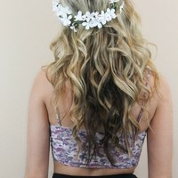 White Jasmine Flower Crown